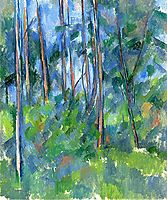 In the Woods, 1898, cezanne