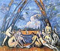 Large Bathers, 1906, cezanne