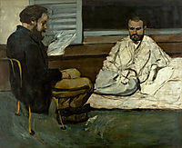 Paul Alexis Reading to Emile Zola a manuscript, 1869-1870, cezanne