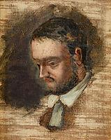 Portrait of Emile Zola, 1864, cezanne