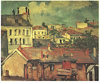 The roofs, cezanne