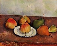 Still Life Plate and Fruit, c.1887, cezanne