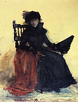 A Lady in Black (aka The Red Shawl), 1883, chase