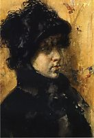 A Portrait Study, 1880, chase
