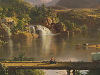 New England Scenery (detail), 1851, church