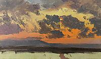 Sky at sunset, Jamaica, West Indies, 1865, church