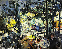 The Walchensee, on the Terrace, 1922, corinth
