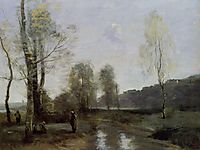 Canal in Picardi, c.1871, corot