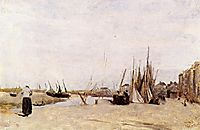 Fishermen s Quay, Trouville, c.1840, corot