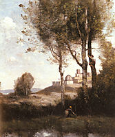 Nest Harriers in Tuscan, 1865, corot