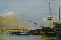 Toulon Battleships Dismantled, corot