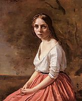 Young Woman, 1845, corot