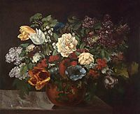 Bouquet of flowers, courbet