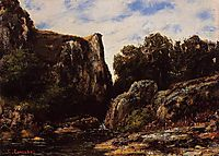 A Waterfall in the Jura, 1876, courbet