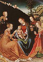 The Mystic Marriage of St. Catherine, c.1516, cranach