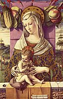 Mary with child, c.1473, crivelli