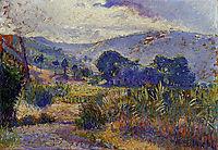 Cabasson Landscape (study), 1899, cross