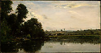 Washerwomen at the Oise River near Valmondois, 1865, daubigny