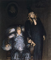 The Imaginary Invalid, daumier