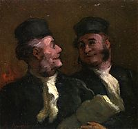 The Lawyers, 1856, daumier