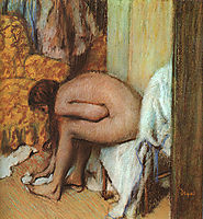 After the Bath (Woman Drying her feet), 1886, degas