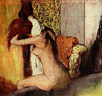After the Bath, Woman Drying Her Nape, 1895, degas