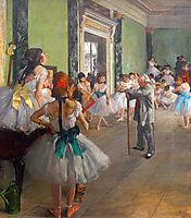 Dance class, 1874, degas