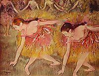 Dancers Bending Down, 1885, degas