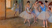 Dancers in a Studio, c.1884, degas