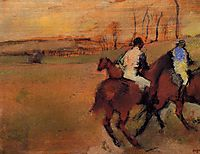 Horses and Jockeys, c.1890, degas