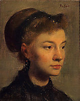 Portrait of a young woman, 1867, degas