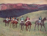 Racehorses in a Landscape, 1894, degas