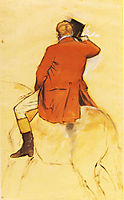 Rider in a Red Coat, 1868, degas