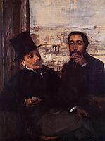 Self Portrait with Evariste de Valernes, c.1865, degas