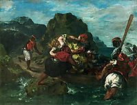 African Pirates Abducting a Young Woman, 1852, delacroix