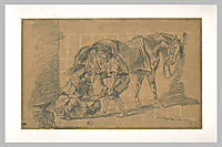 A blacksmith, delacroix