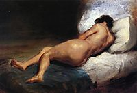 Study of a Reclining Nude, 1824, delacroix