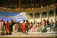 Hemicycle of the Ecole des Beaux-Arts, 1814, delaroche