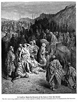 Godfrey Meets the Remains of the Army of Peter the Hermit, dore