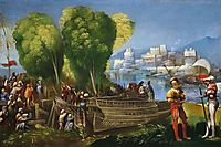 Aeneas and Achates on the Libyan Coast, 1520, dossi