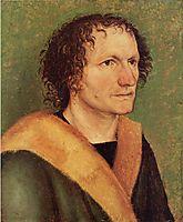 Male portrait before green base, c.1497, durer