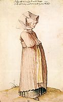 Nuremberg Woman Dressed for Church, 1500, durer