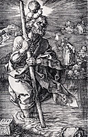 Saint Christopher Facing To The Right, 1521, durer