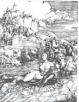 A sea monster bearing away a princess, 1528, durer