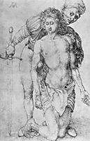 Youth with executioner, durer