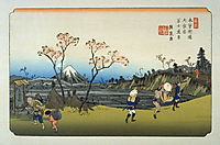 Omiya, pl. 5 from a facsimile edition of Sixty-nine Stations of the Kiso Highway, eisen