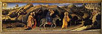 Adoration of the Magi Altarpiece, left hand predella panel depicting Rest during The Flight into Egypt, 1423, fabriano