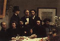 The Corner of the Table, 1872, fantinlatour