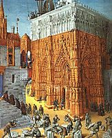 Building of the Temple of Jerusalem, c.1470, fouquet