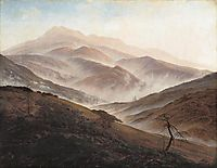 Giant Mountains Landscape with Rising Fog, 1820, friedrich